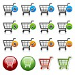 Stock Vector: Add delete shopping cart item