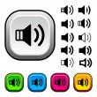 Speaker icons and buttons — Vector de stock  #11496933