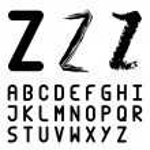 Original font alphabet - easy apply any stroke — Stock Vector