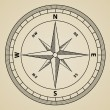 Outline compass wind rose — Stockvectorbeeld