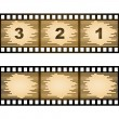 Striped blank film strip — Stock Vector