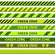 Green zone seamless caution tapes — Stock Vector #11497372