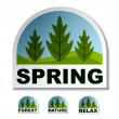 Spring tree forest stickers — Stock Vector #11497388