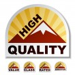 High quality value class rated addictive mountain stickers - Stock Vector