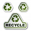 Royalty-Free Stock Vector Image: Recycle green arrow stickers