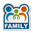Stock Vector: Family joined sticker