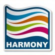 Harmony abstract wave sticker — Stock Vector