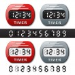 Stok Vektör: Mechanical counter - countdown timer