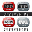 Mechanical counter - countdown timer — Stok Vektör #11497481