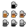 Stock Vector: Beer mug symbols