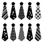 Tie black silhouettes — Stock Vector #11497500