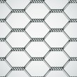 Chicken wire seamless background - Image vectorielle