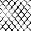Stock Vector: Wire fence seamless black silhouette
