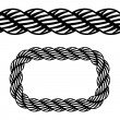 Seamless black rope symbol — Stock Vector