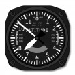 Aviation airplane altimeter - Stock Vector