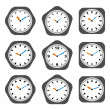 Clock icons — Stockvectorbeeld