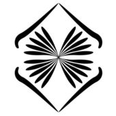 Tattoo flower — Stock Vector