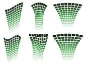 Green design elements — Stock Vector