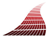 Red design element — Stock Vector