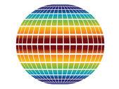 Rainbow globe — Stock Vector