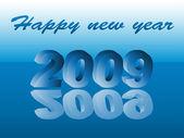 Capodanno 2009 — Vettoriale Stock