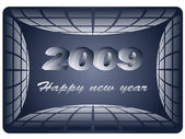 Business card - new year 2009 — Stock Vector