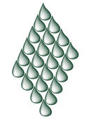 Drops ornament — Stockvector
