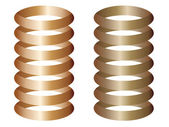 Metal springs — Stock Vector