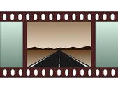 Empty road - film strip — Stock Vector