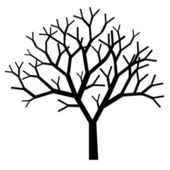 Tree silhouette — Vettoriale Stock