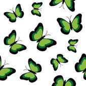 Butterflies seamless — Stock Vector