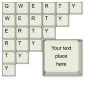 Qwerty клавиатура — Cтоковый вектор