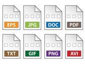 значки документов — Cтоковый вектор