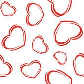 Srdce - bezešvé tapety — Stock vektor