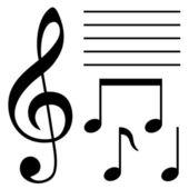 Conjunto de símbolos musicales — Vector de stock