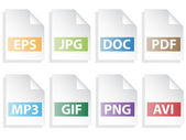 Iconos de documento — Vector de stock