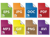 Icônes de document — Vecteur