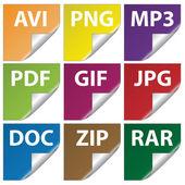 Icone del documento — Vettoriale Stock