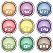 ícones de documento brilhante — Vetorial Stock