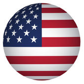 Sphere USA flag — Stock Vector