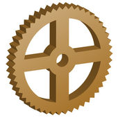 3D sprocket — Vector de stock