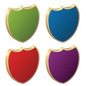 Protège - 3d badges — Vecteur