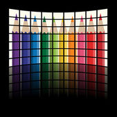 Lcd tv panels - rainbow crayons — Stockvektor