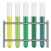 Test tubes in holder — Stock Vector