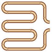Copper pipe — Stock Vector