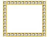 Golden frame with diamonds — Stock Vector