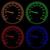 Speedometers — Stock Vector