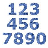 Bubble digits — Stock Vector