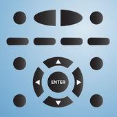 Remote tv control — Stock Vector