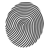 Drawing fingerprint — Stock Vector